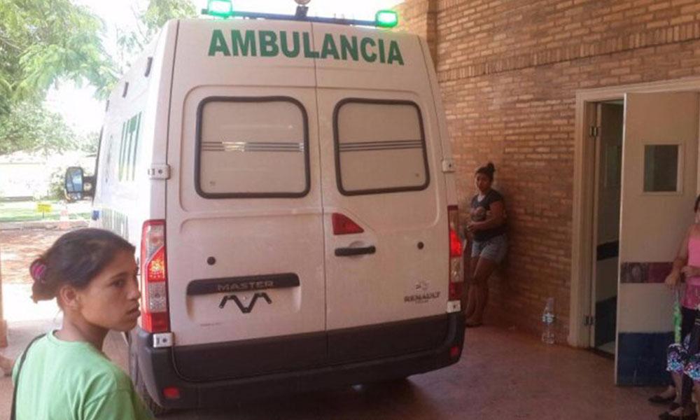 El niño fue trasladado del Hospital Distrital de Presidente Franco al Hospital de Trauma de Asunción. Foto://Ultimahora.com