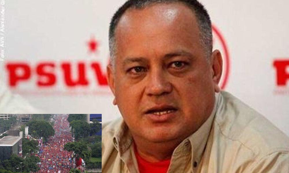 Venezuela: Diosdado Cabello publica imagen del 2012 diciendo que era de la marcha de este 1 de sep