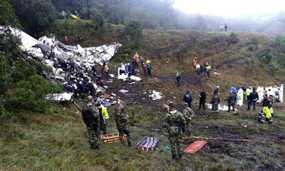 Panorama del accidente. Foto://EFE