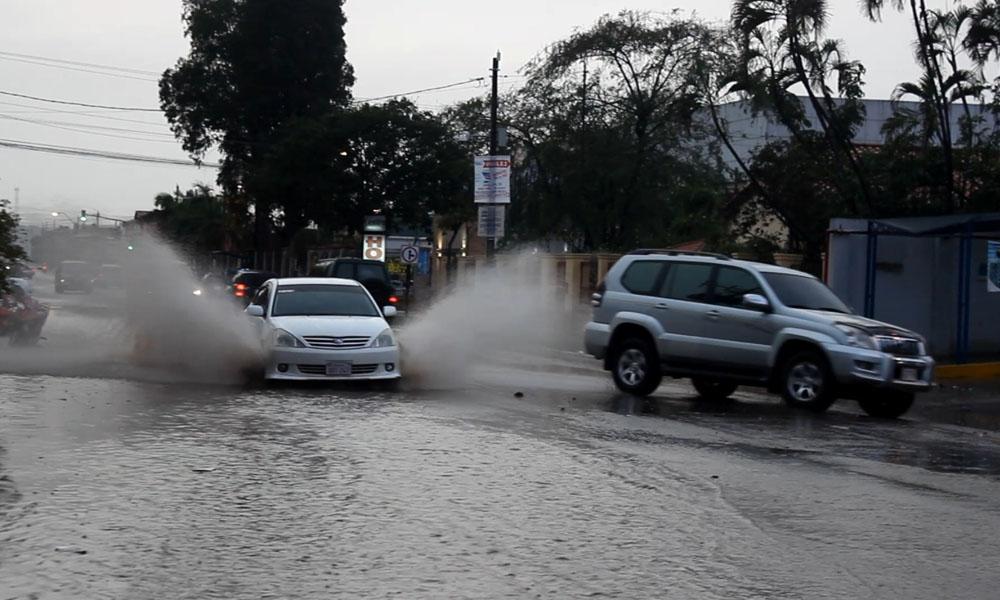 Las ciudad de Coronel Oviedo bajo agua. //Gentileza