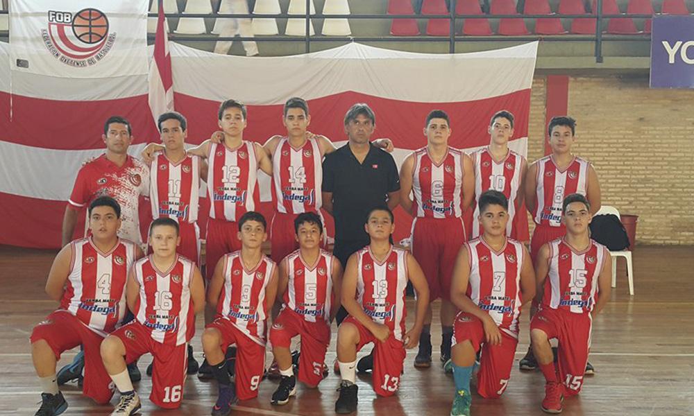 Selección Ovetense de categoría Sub 14 de Basquetbol, que disputa el Nacional de San Lorenzo. //Gentileza