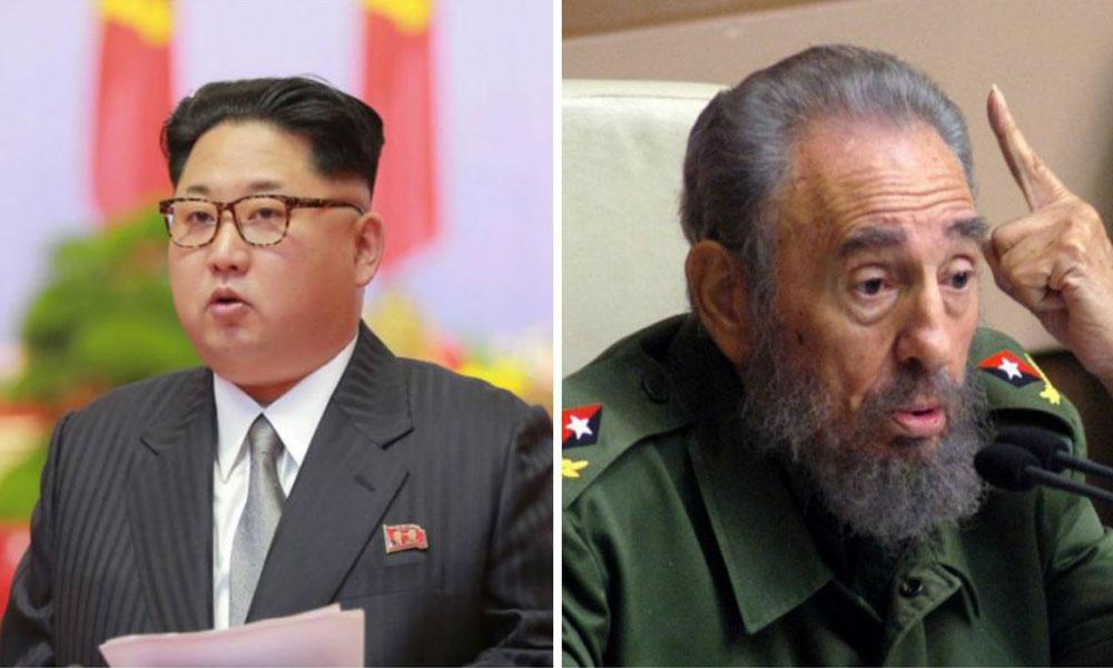 Kim Jong-un (i) Fidel Castro (d). //t13.cl
