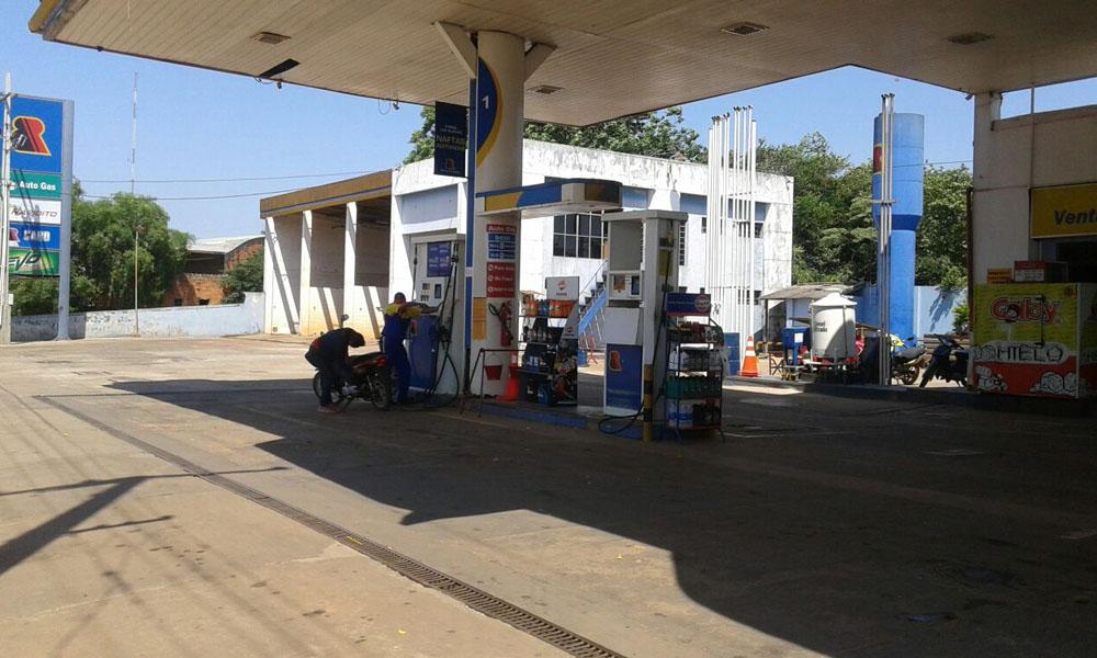 La estación de servicio privada BR ubicada sobre la Avenida Defensores del Chaco, zona ex Barrera de la ciudad de Coronel Oviedo. /7OviedoPress