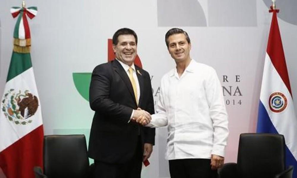 Los mandatarios, Cartes y Peña Nieto. Foto:// presidencia.gov.py