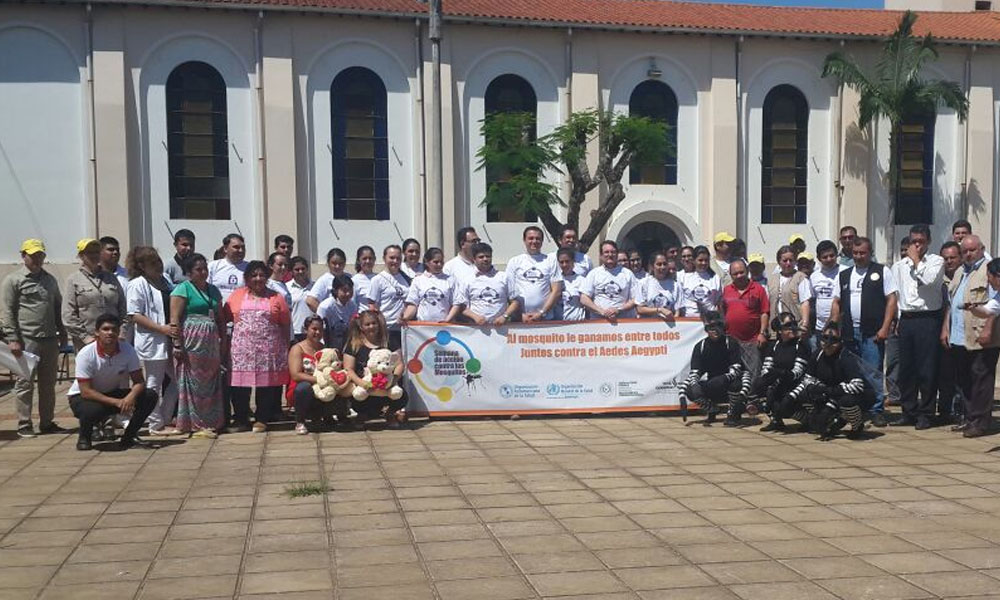 La actividad se desarrolló esta mañana en la explanada de la Catedral Virgen del Rosario de la ciudad de Coronel Oviedo. //OviedoPress