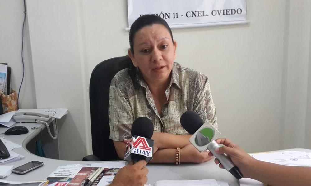 Lic. Atilana Sosa Supervisora de Control y Apoyo Administrativo Región 11. //OviedoPress