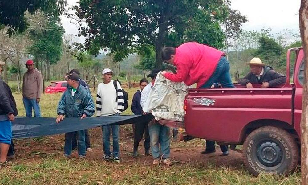 Carpas recibidas por parte de los pobladores del distrito de Carayaó.