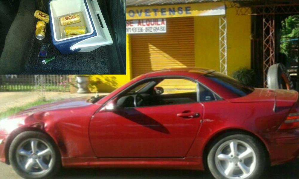 El accidente se produjó sobre la ruta VIII Dr. Blas A. Garay en la entrada al barrio 1º de Marzo de la ciudad. Foto://OviedoPress