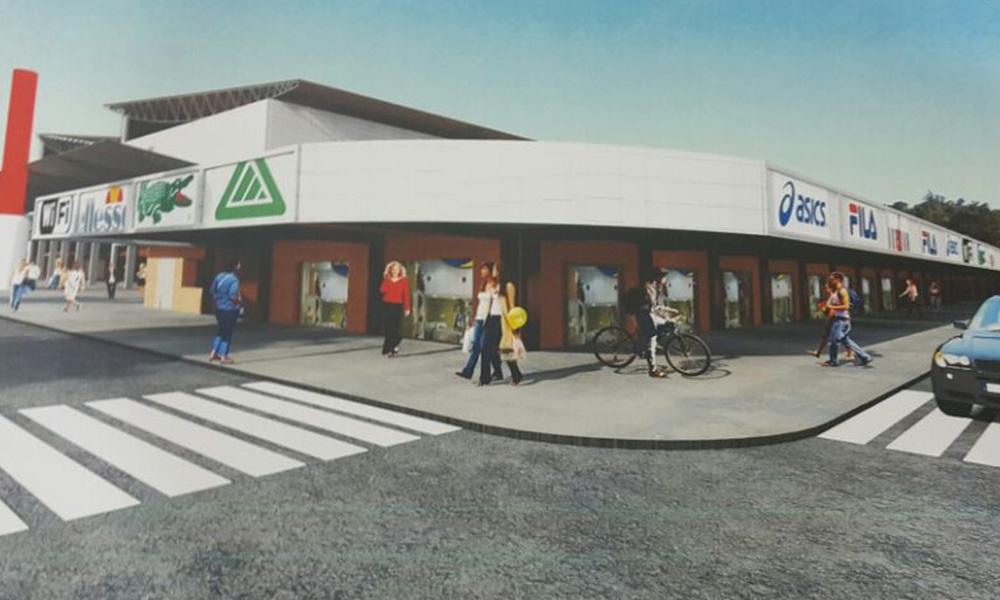 Plano de la nueva fachada del Centro Comercial N1.
