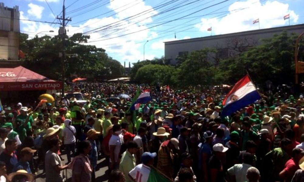 Campesinos aseguran que volverán con las manifestaciones. Foto://Ultimahora.com