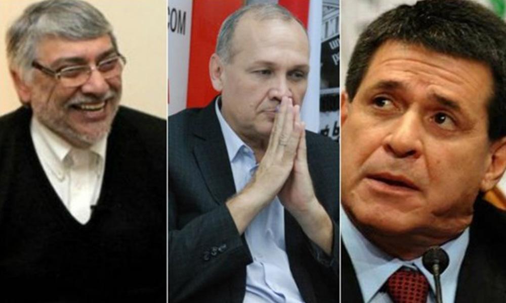 Fernando Lugo, Mario Ferreiro y Horacio Cartes. Fotos//archivos/ - última hora