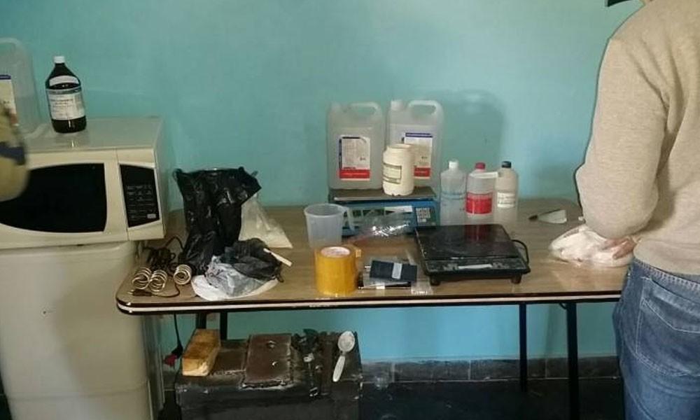 En pleno centro de Asunción desbaratan laboratorio de cocaína