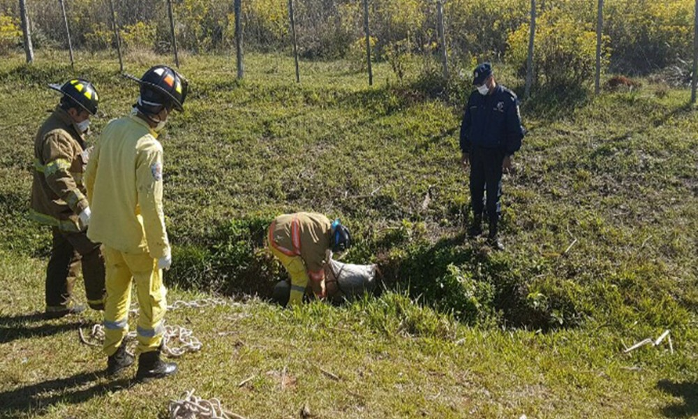 El cadáver fue encontrado el martes al costado de la ruta en Guarambaré. Foto://Am Monumental 1080