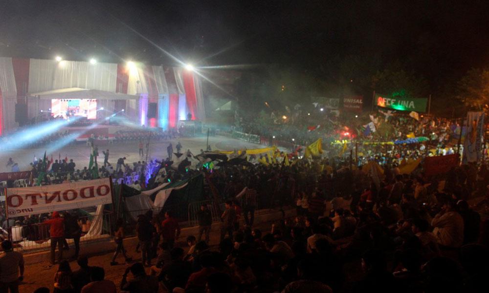 Noche de inauguración de los Juegos Universitarios FUO 2016. //OviedoPress