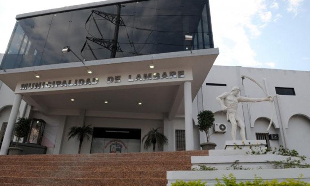 Fachada de la Municipalidad de Lambaré. Foto://Ultimahora.com