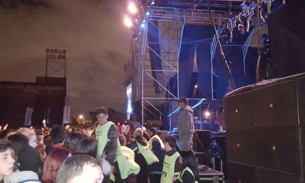 El sistema de seguridad del concierto se vio sobrepasado y Megadeth decidió suspender su presentación. //Abc.com.py