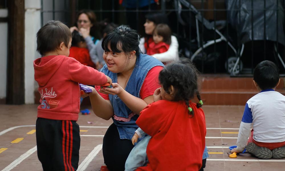 Noelia, la primera maestra con síndrome de Down en Argentina