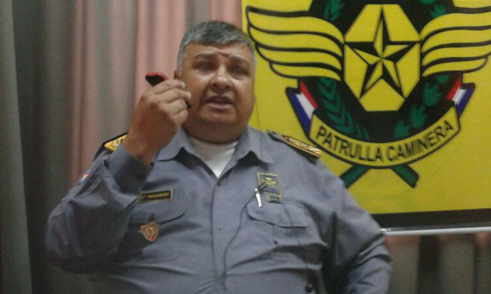 Jefe de la Patrulla Caminera, Insp. Ppal. Rodolfo Maldonado. //OviedoPress