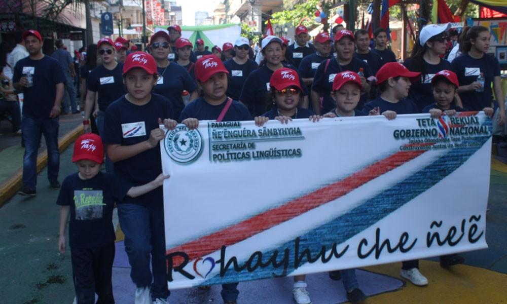 Marcha realizada el año pasado en el centro de Asunción para cerrar la campaña Ro hayhu che ñe´ê. //guarani.es