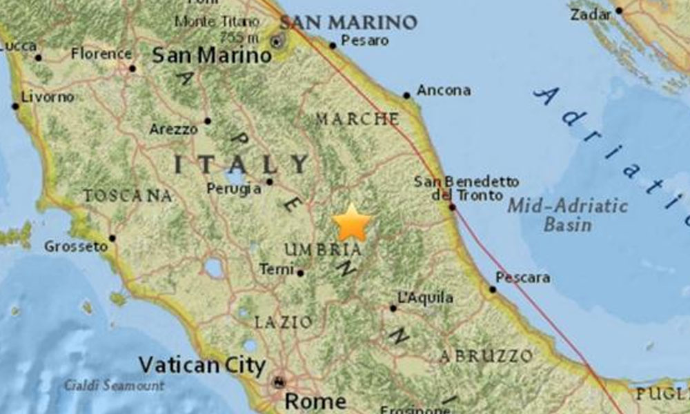 Fuerte terremoto de de 5.4 vuelve a sacudir el centro de Italia