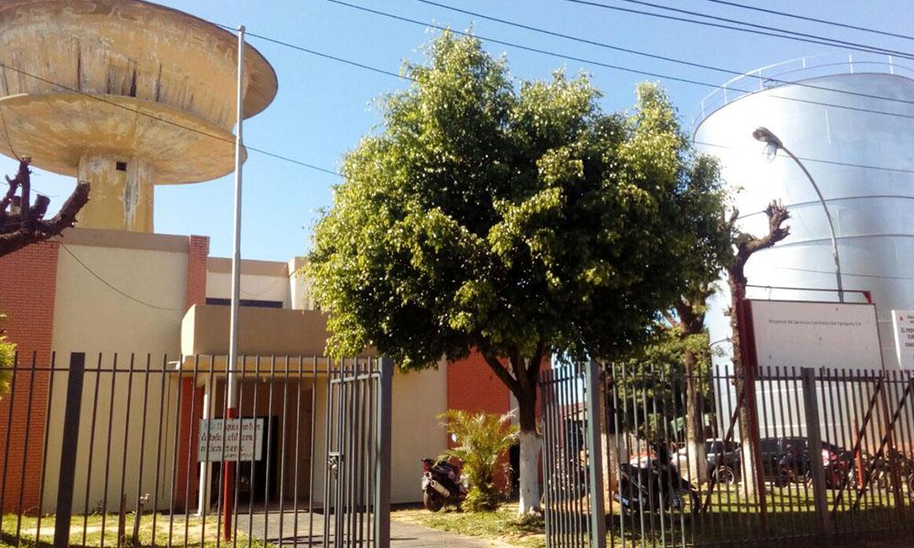 Fachada de la oficina regional de la ESSAP. Foto://AlexisLópez-OviedoPress.
