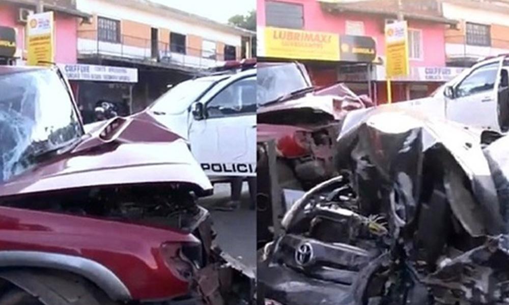 Así quedaron los vehículos involucrados en el percance. Foto://Paraguay.com