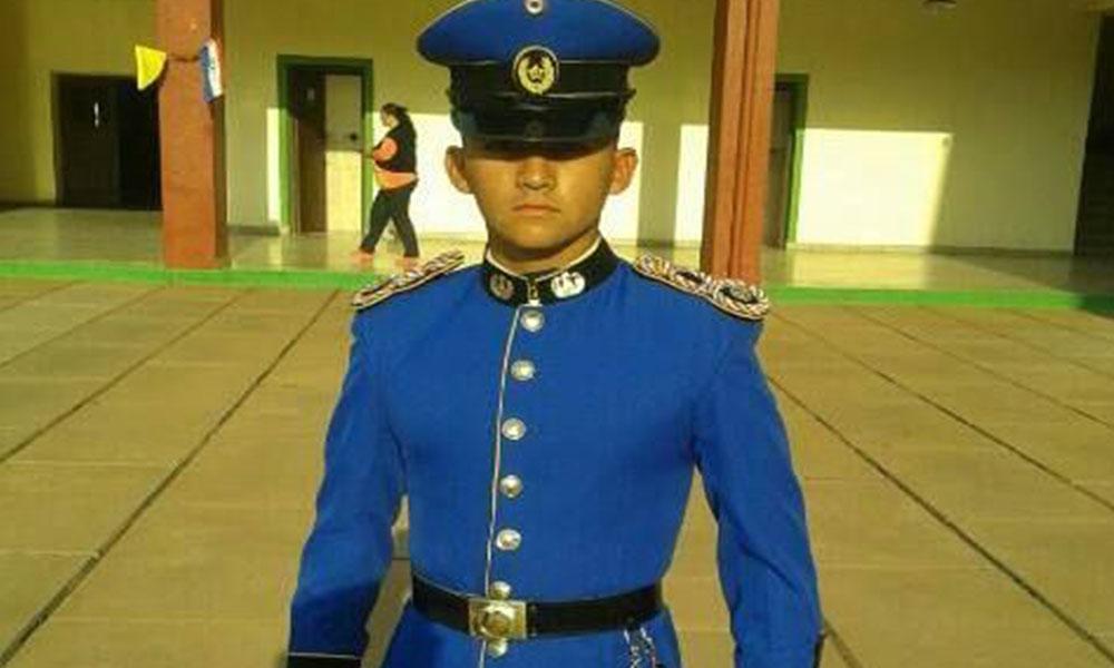 El cadete militar fallecido tras aprobar un curso de paracaidismo. Foto://Abc.com.py.