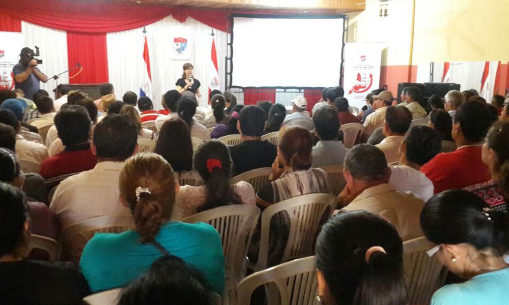 Jornada de audiencia pública de presupuesto participativo de la Municipalidad de Coronel Oviedo, con presencia de representantes de comisiones vecinales. Foto://OviedoPress