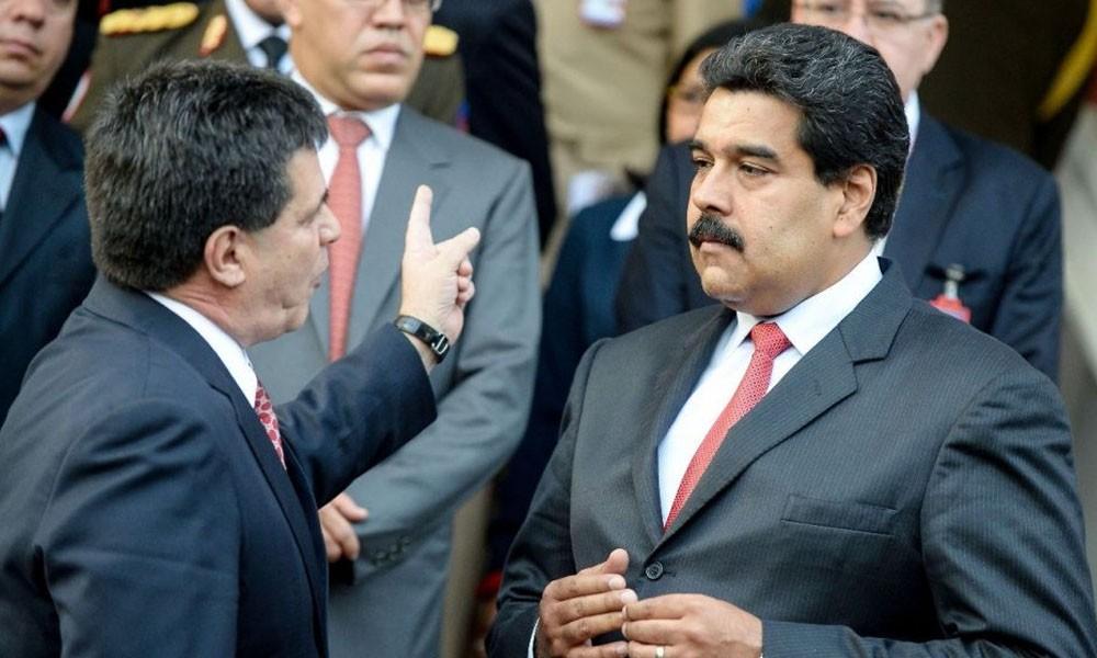 El presidente paraguayo Horacio Cartes, junto a su par venezolano Nicolás Maduro. //Abc.com.py - Archivo