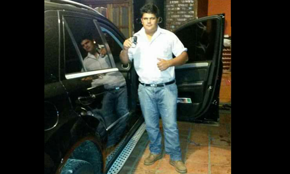 David Segovia, conductor de la camioneta. Foto://OviedoPress