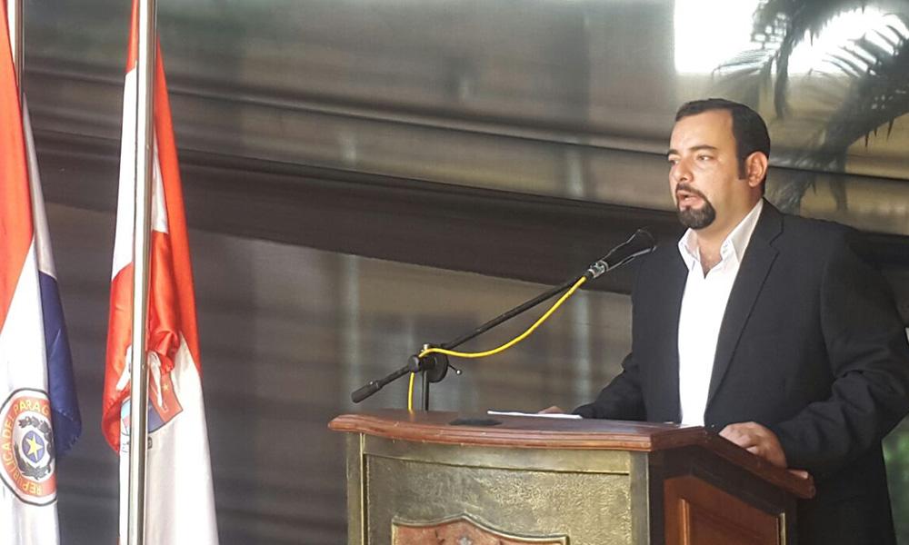 Eladio González. intendente de Coronel Oviedo. Foto://OviedoPress