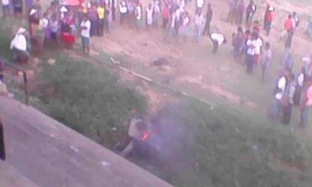 Queman vivo a presunto ladrón en Entre Ríos, Bolivia. Foto://El Deber