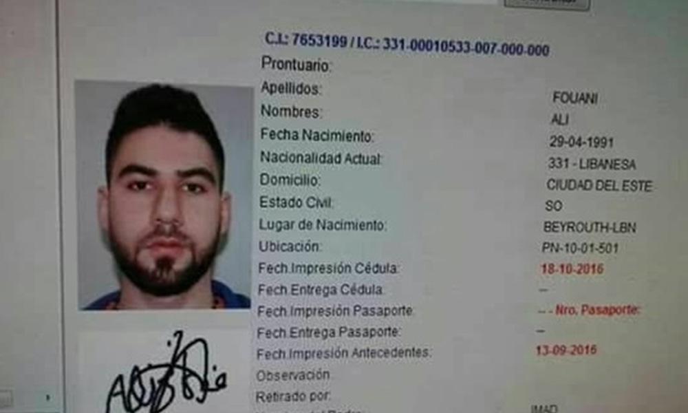 El libanés buscado por la justicia. Foto://Paraguay.com