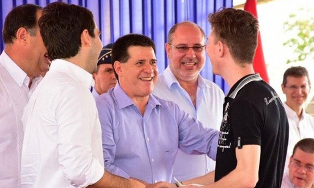 El presidente de la República, Horacio Cartes en Ciudad del Este. Foto://Horacio Cartes - Facebook