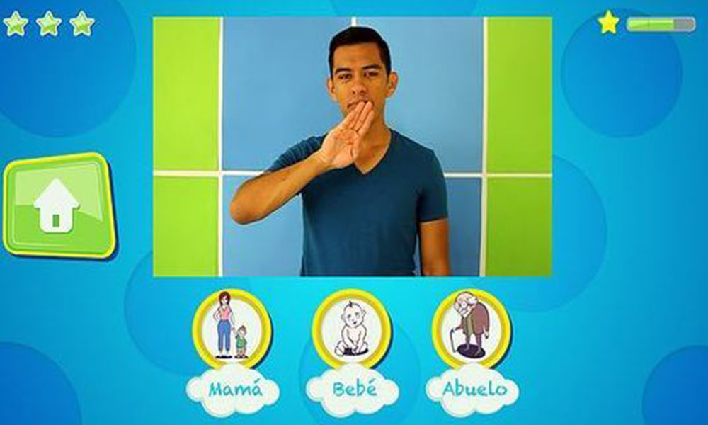La plataforma enseña 89 señas, dividido en 7 categorías Foto://Paraguay.com