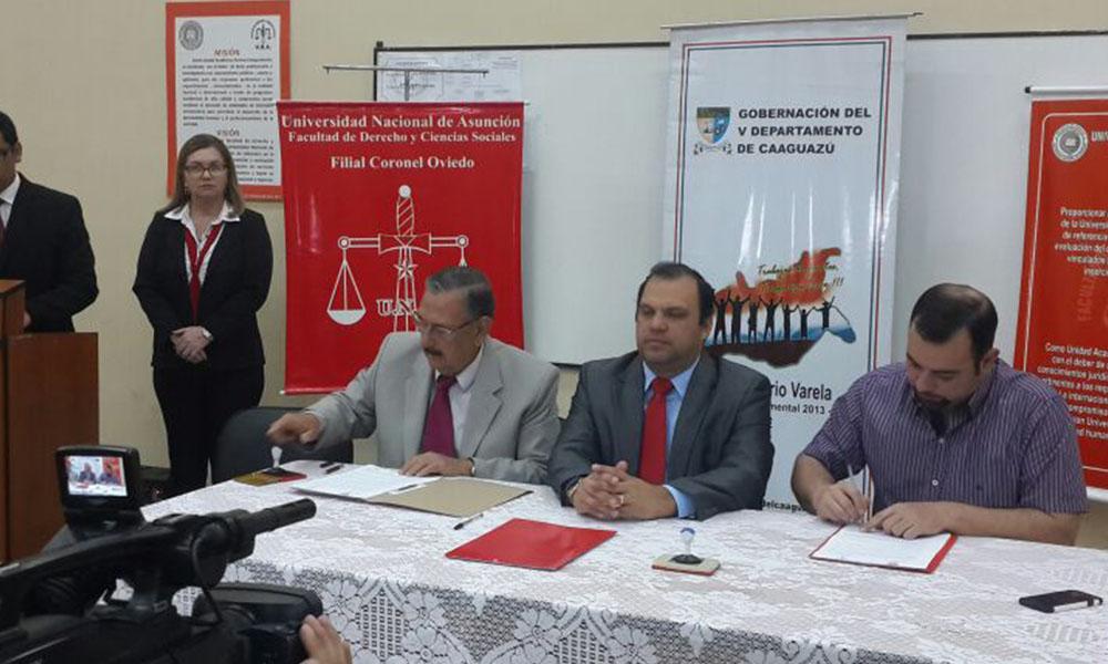 Derecho UNA Coronel Oviedo en proceso de acreditación ANEAES