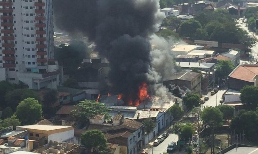 Imagen del incendio. //Abc.com.py