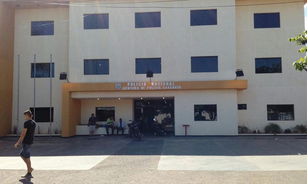 Sede de Jefatura de Policia Caaguazú. Foto://OviedoPress