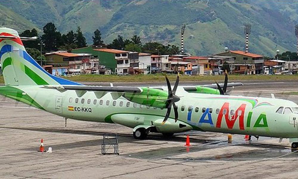 Fiscalía boliviana confisca 2 aviones de Lamia que estaban en hangar militar. Foto://800noticias