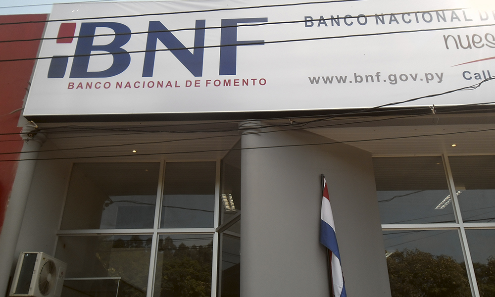 Fachada del Banco Nacional de Fomento Campo 9. Foto://campo9noticias.com