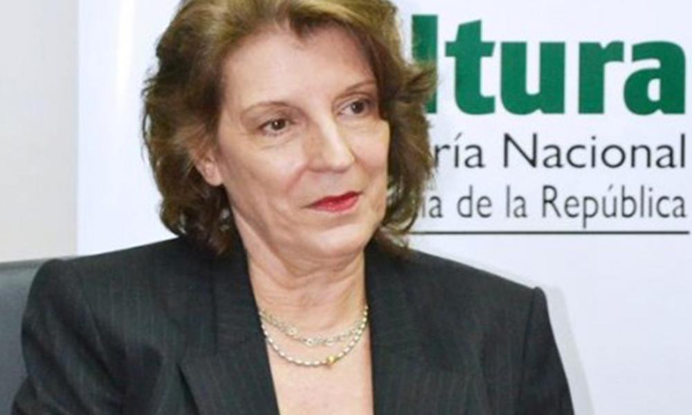 Mabel Caussano, exministra de cultura. Foto://contrainjerencia.com