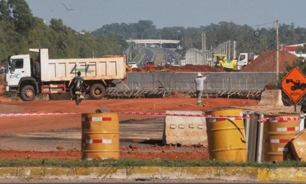 Sin fondos. Una vez más, las obras de la autopista Ñu Guasu pueden paralizarse . Foto://Ultimahora.com