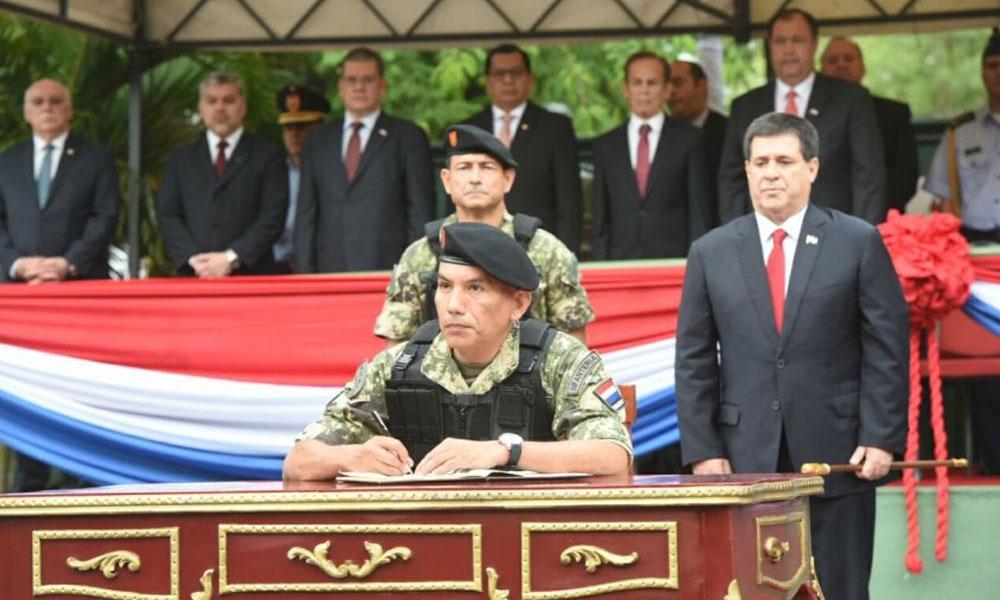 Cnel. Manuel Rodríguez Sosa, nuevo comandante del Regimiento Escolta Presidencial. //Jorge Cañete