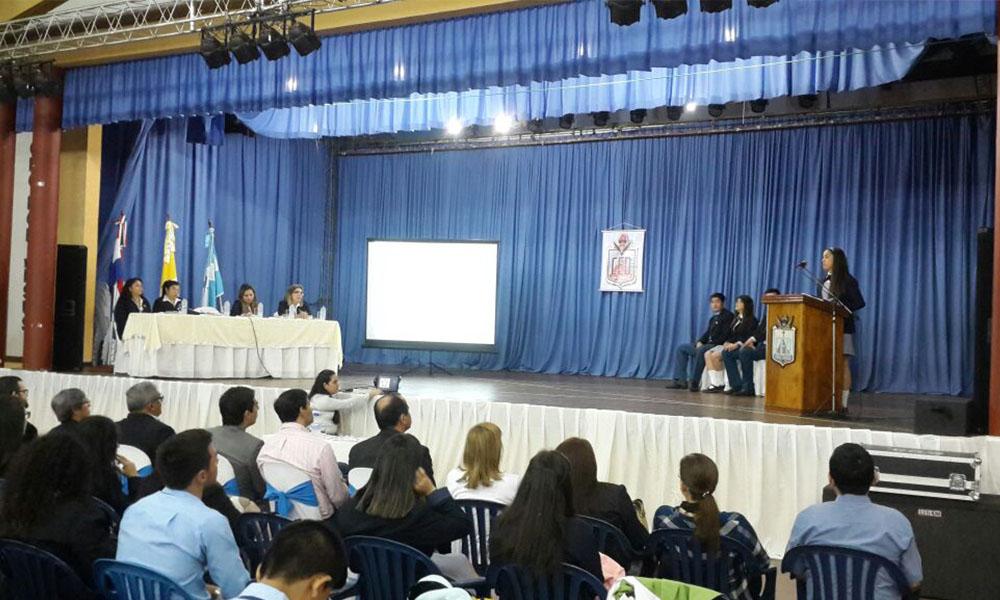 """La defensa del Proyecto Educativo se llevó a cabo en el salón """"Monseñor Gerónimo Pechillo"""". //OviedoPress"""