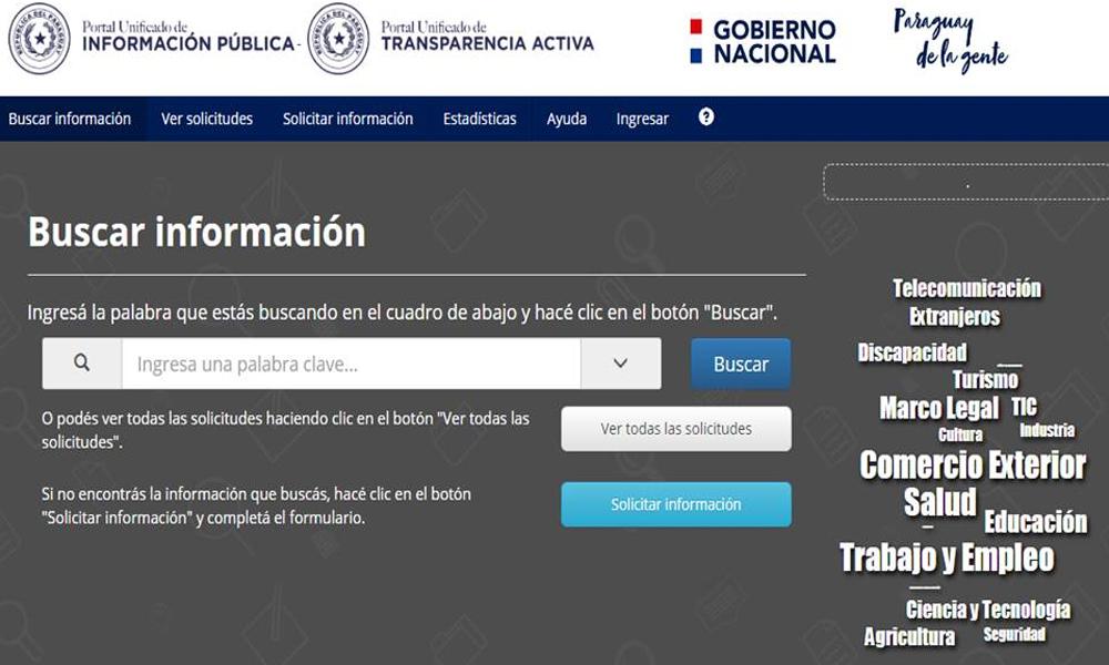 Más de 14 mil pedidos ciudadanos recibió el portal de Acceso a la Información Pública en cuatro años de vigencia