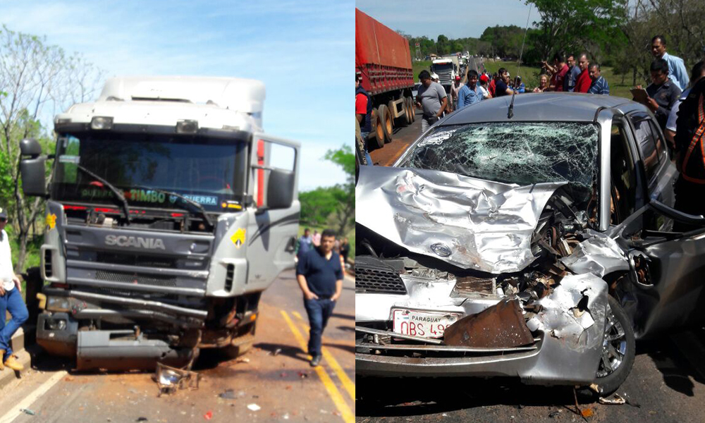 El accidente se produjo en el Km 160 de la Ruta VII. Foto://Gentileza.