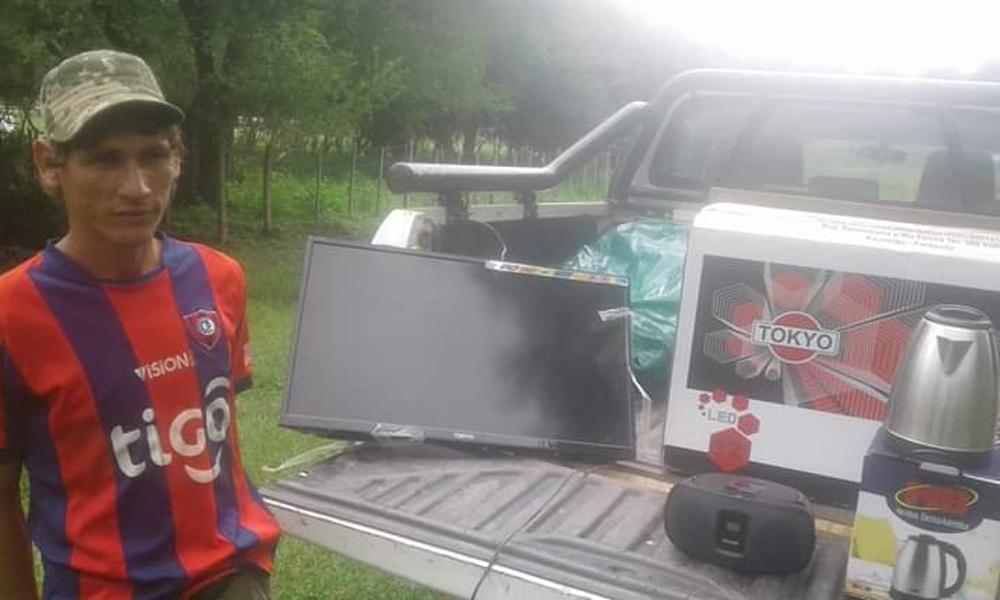 Recuperan objetos robados de una escuela en Paraguarí