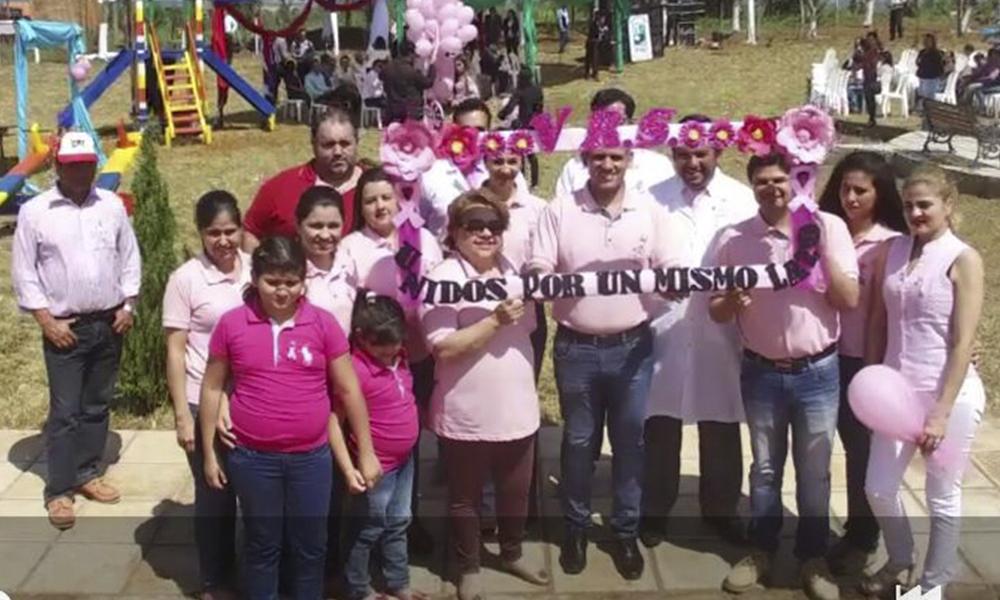 Integrantes de la V Región Sanitaria del Caaguazú, dierón a conocer la actividad Octubre Rosa.