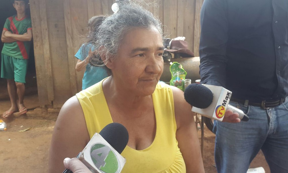 Damiana Barreto, presidenta Asociación de Gancheros del vertedero municipal de Coronel Oviedo. //OviedoPress