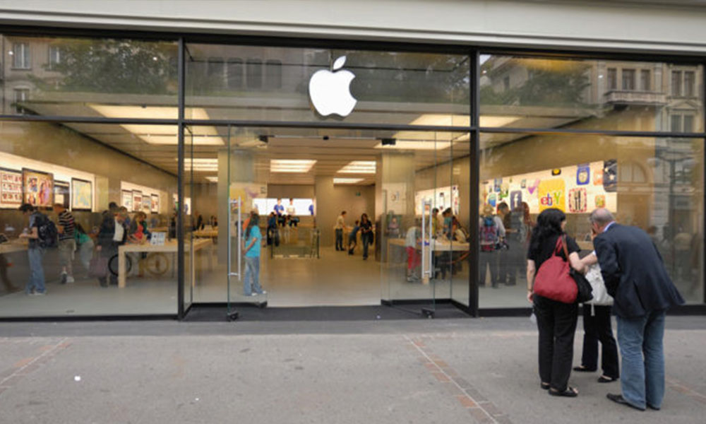 Una Apple Store en Zurich.